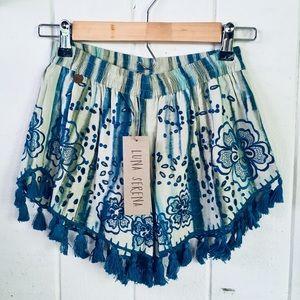 Luna Serena Embroidered Beach Shorts 💙